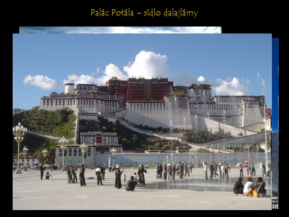 Palác Potála – sídlo dalajlámy