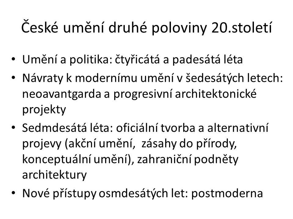 České umění druhé poloviny 20.století