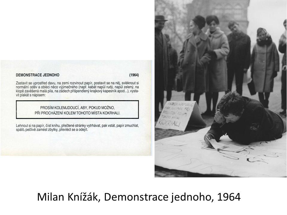 Milan Knížák, Demonstrace jednoho, 1964