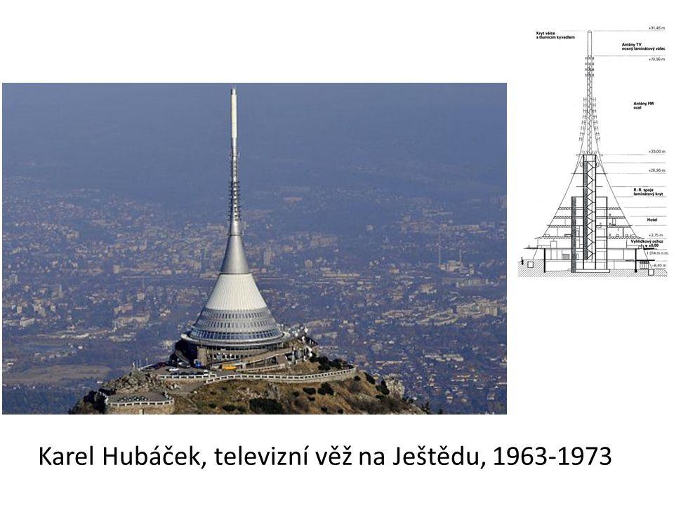 Karel Hubáček, televizní věž na Ještědu, 1963-1973