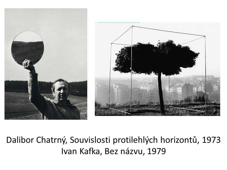 Dalibor Chatrný, Souvislosti protilehlých horizontů, 1973 Ivan Kafka, Bez názvu, 1979