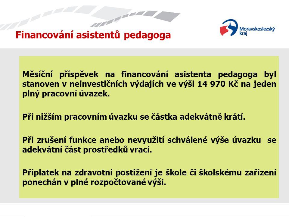Financování asistentů pedagoga