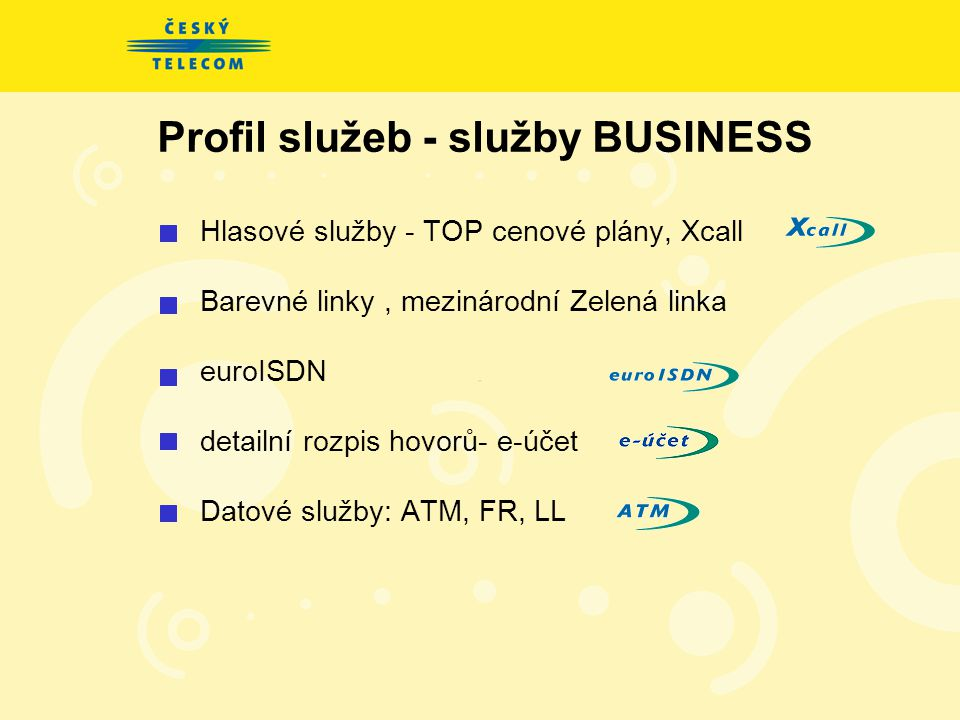 Profil služeb - služby BUSINESS
