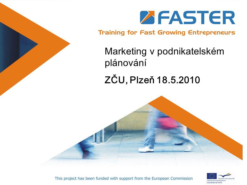 Marketing v podnikatelském plánování ZČU, Plzeň 18.5.2010