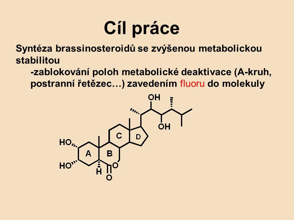 Cíl práce Syntéza brassinosteroidů se zvýšenou metabolickou stabilitou