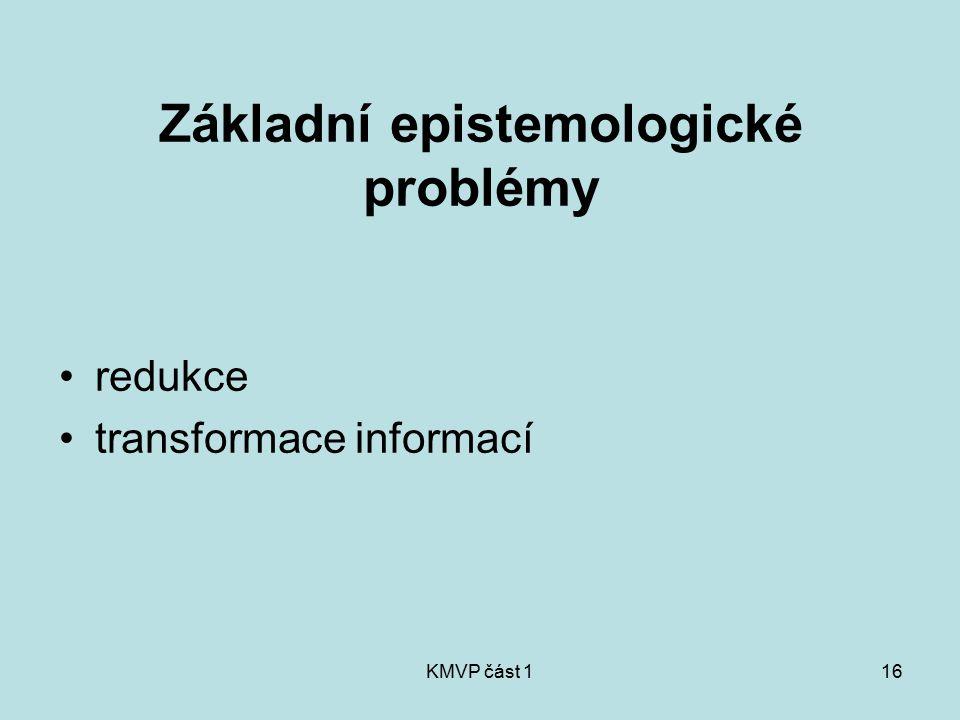 Základní epistemologické problémy