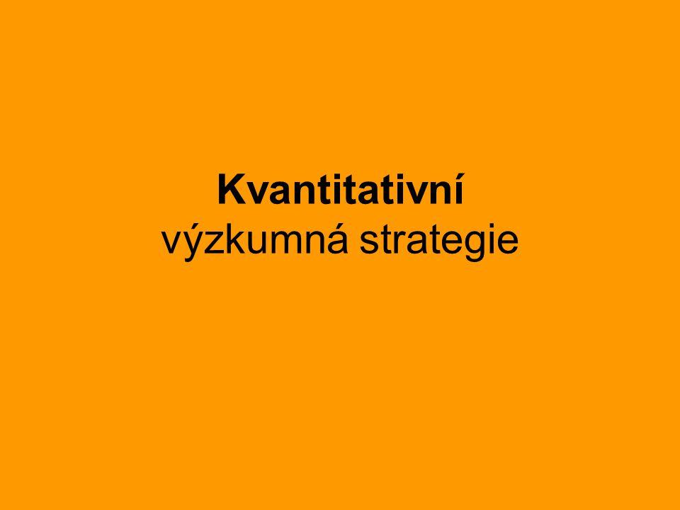 Kvantitativní výzkumná strategie
