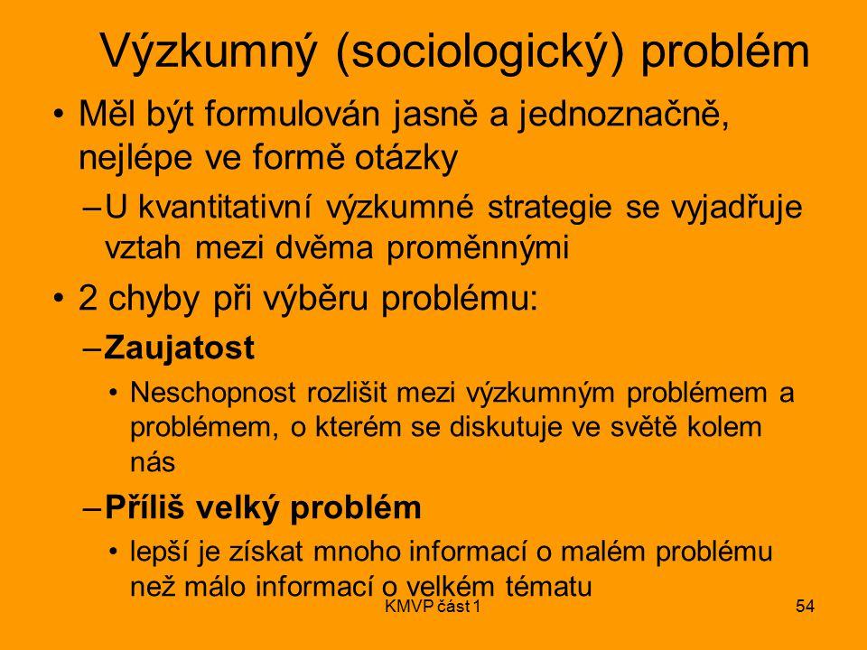 Výzkumný (sociologický) problém