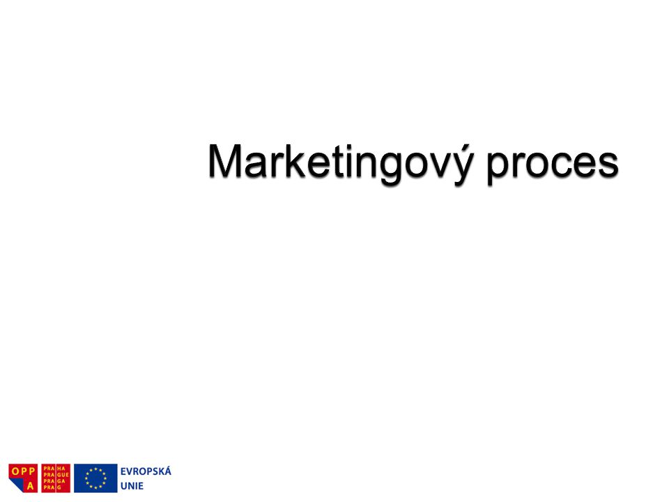 Marketingový proces