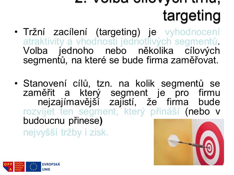 2. Volba cílových trhů, targeting