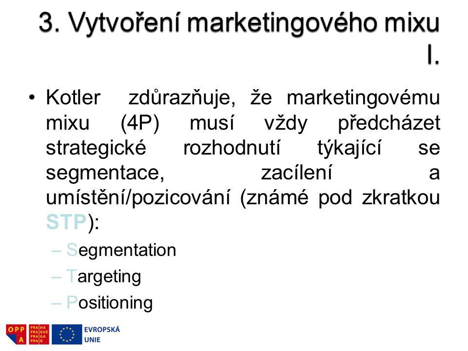 3. Vytvoření marketingového mixu I.