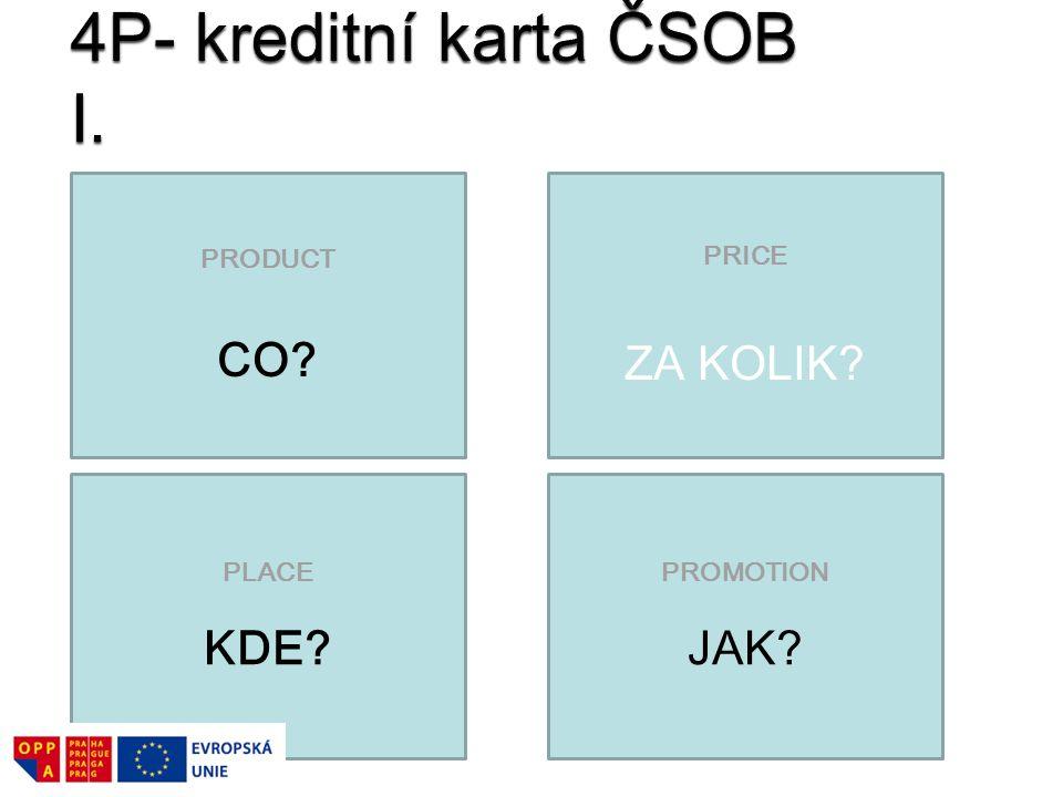 4P- kreditní karta ČSOB I.