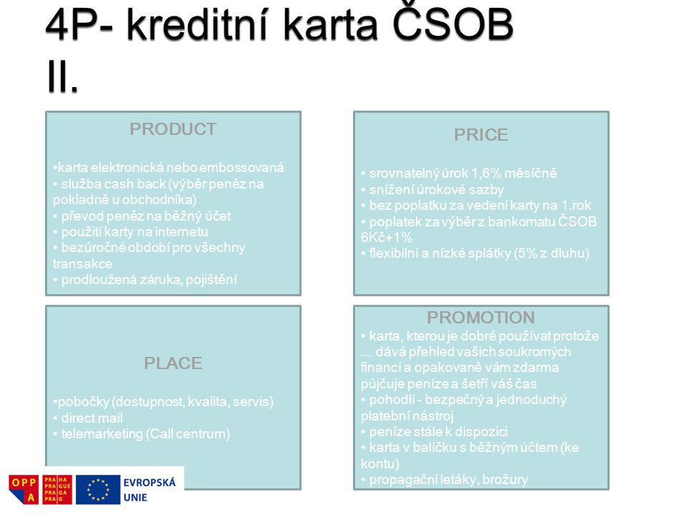 4P- kreditní karta ČSOB II.