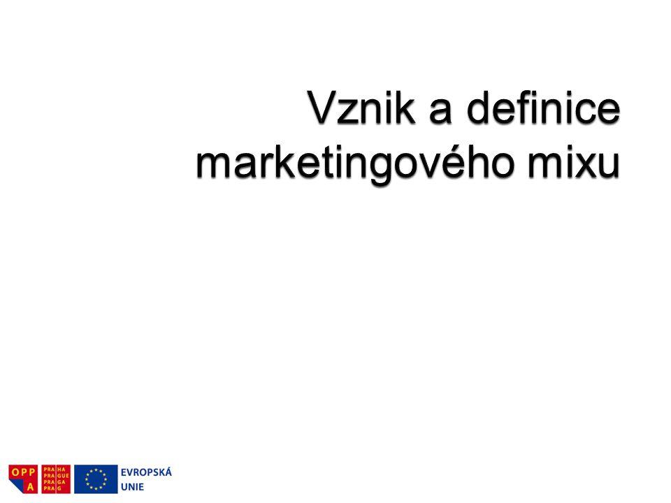 Vznik a definice marketingového mixu