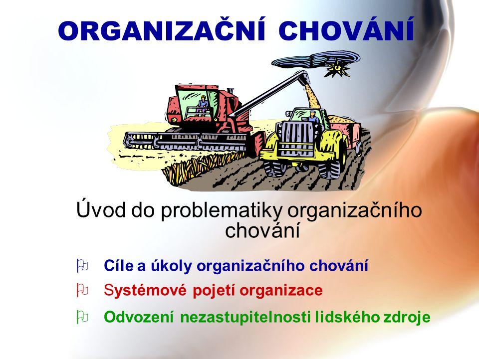 Úvod do problematiky organizačního chování