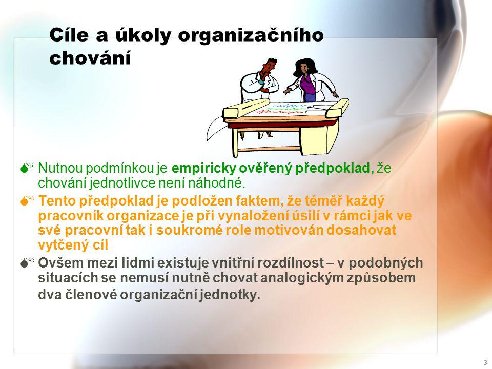 Cíle a úkoly organizačního chování