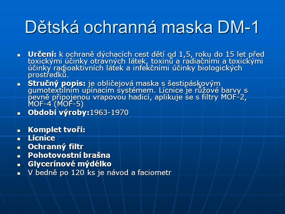 Dětská ochranná maska DM-1