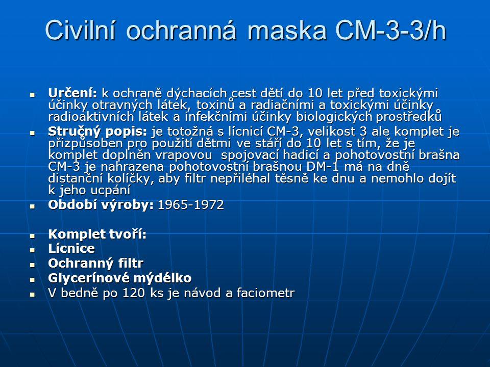 Civilní ochranná maska CM-3-3/h