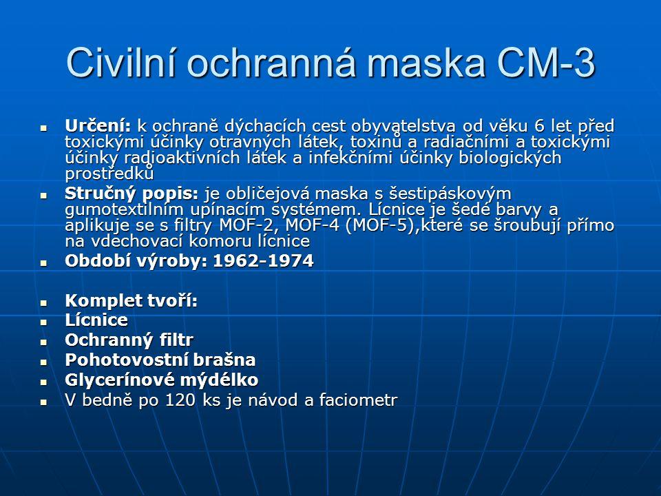 Civilní ochranná maska CM-3