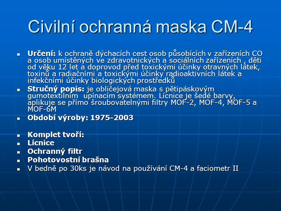 Civilní ochranná maska CM-4