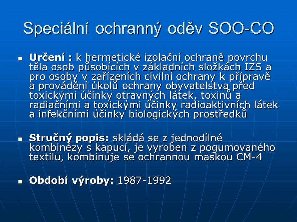 Speciální ochranný oděv SOO-CO