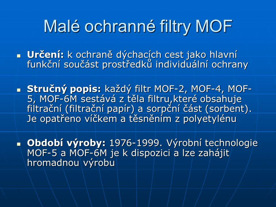Malé ochranné filtry MOF