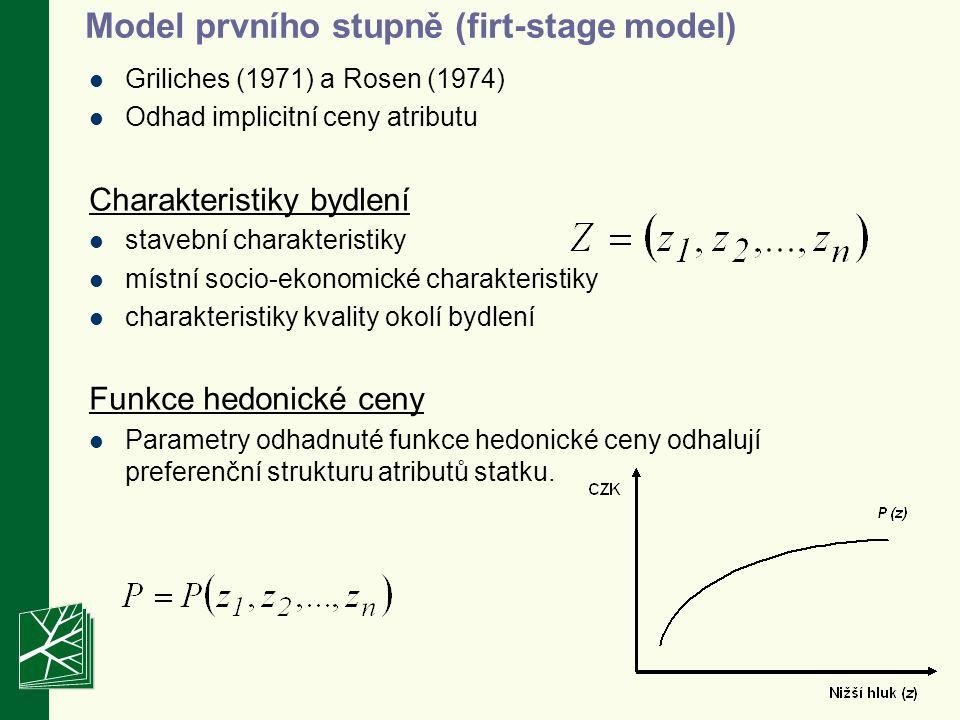 Model prvního stupně (firt-stage model)