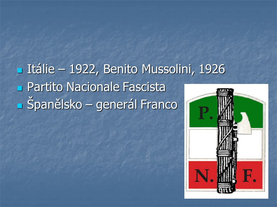 Itálie – 1922, Benito Mussolini, 1926