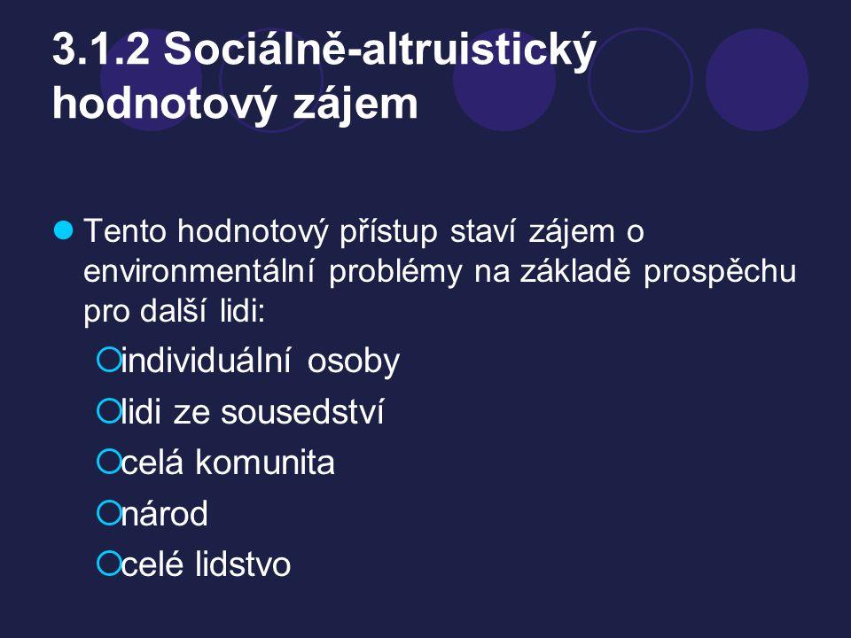 3.1.2 Sociálně-altruistický hodnotový zájem