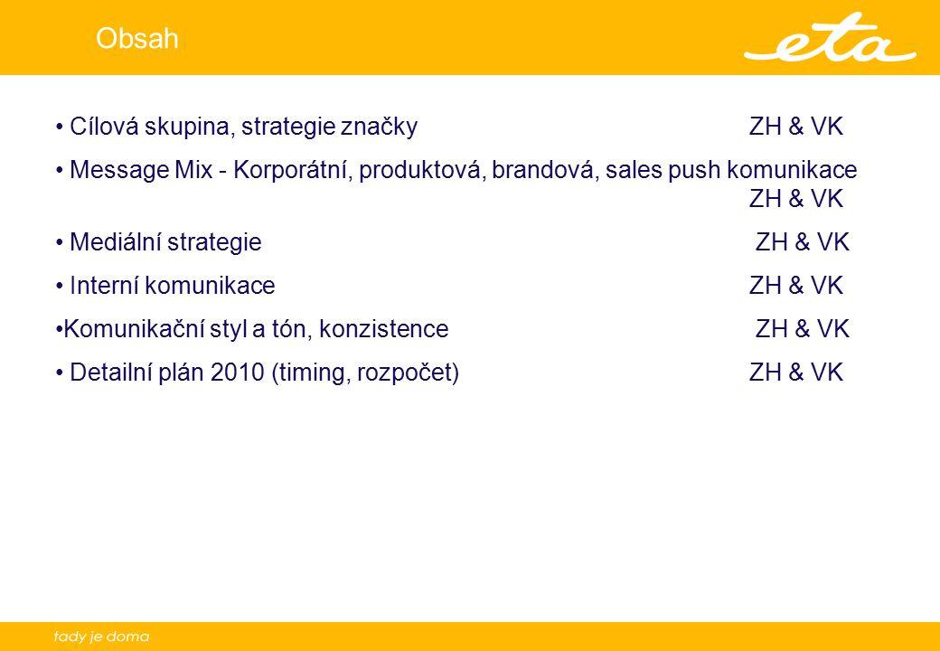 Obsah Cílová skupina, strategie značky ZH & VK