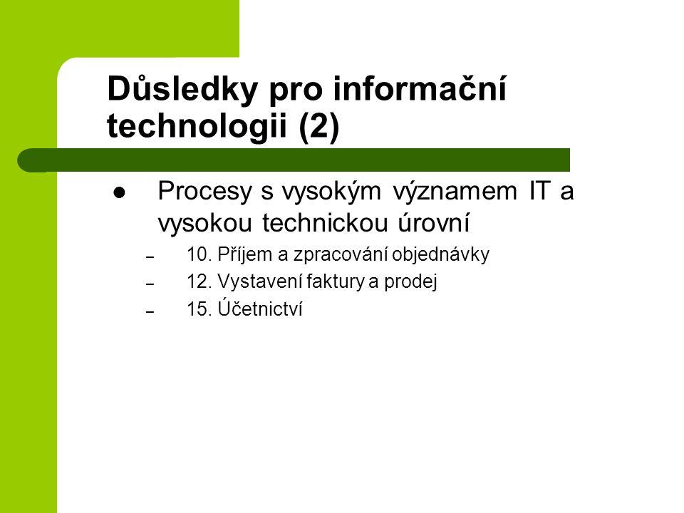 Důsledky pro informační technologii (2)