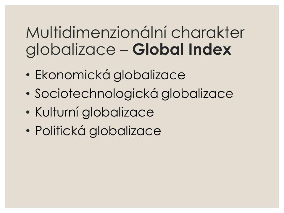 Multidimenzionální charakter globalizace – Global Index