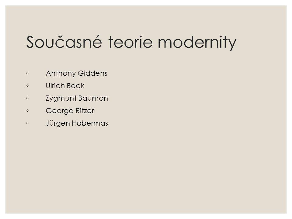 Současné teorie modernity