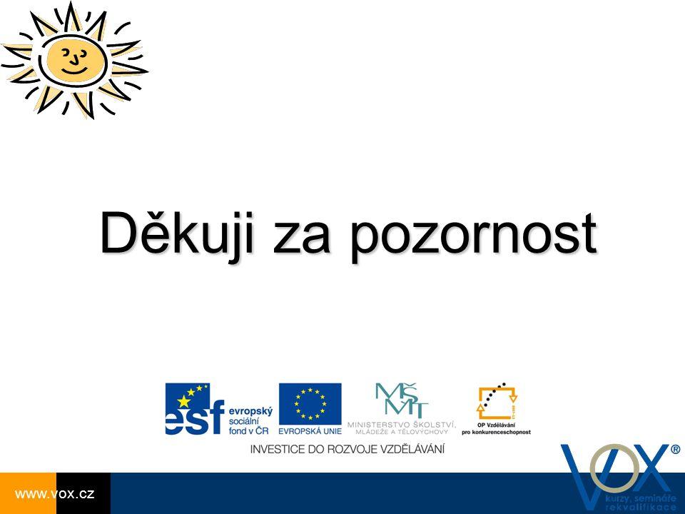 Děkuji za pozornost www.vox.cz www.vox.cz www.vox.cz
