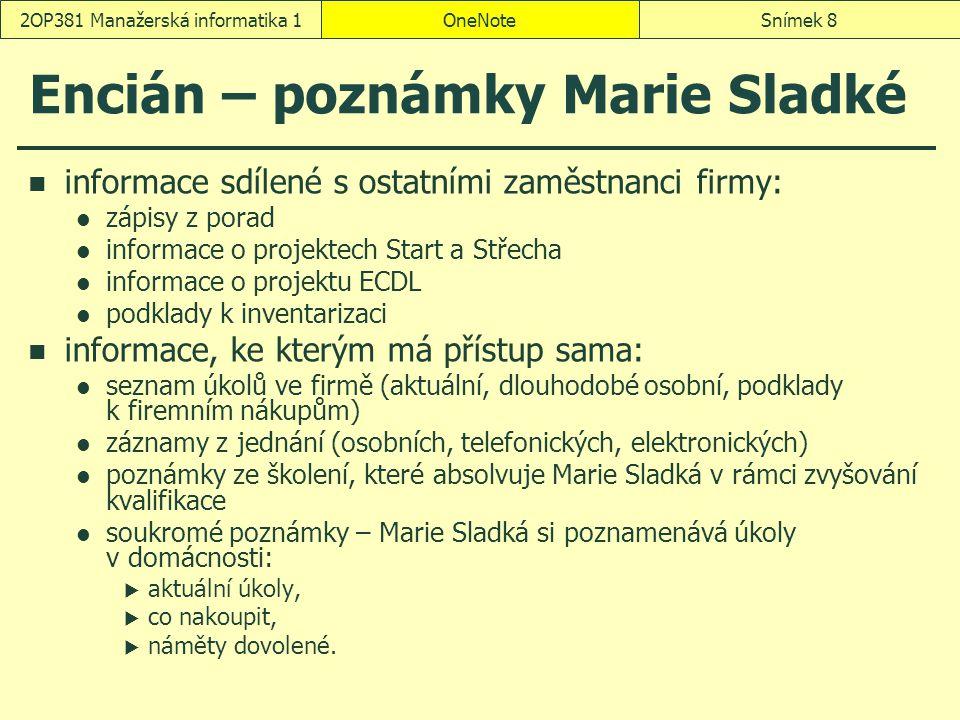 Encián – poznámky Marie Sladké