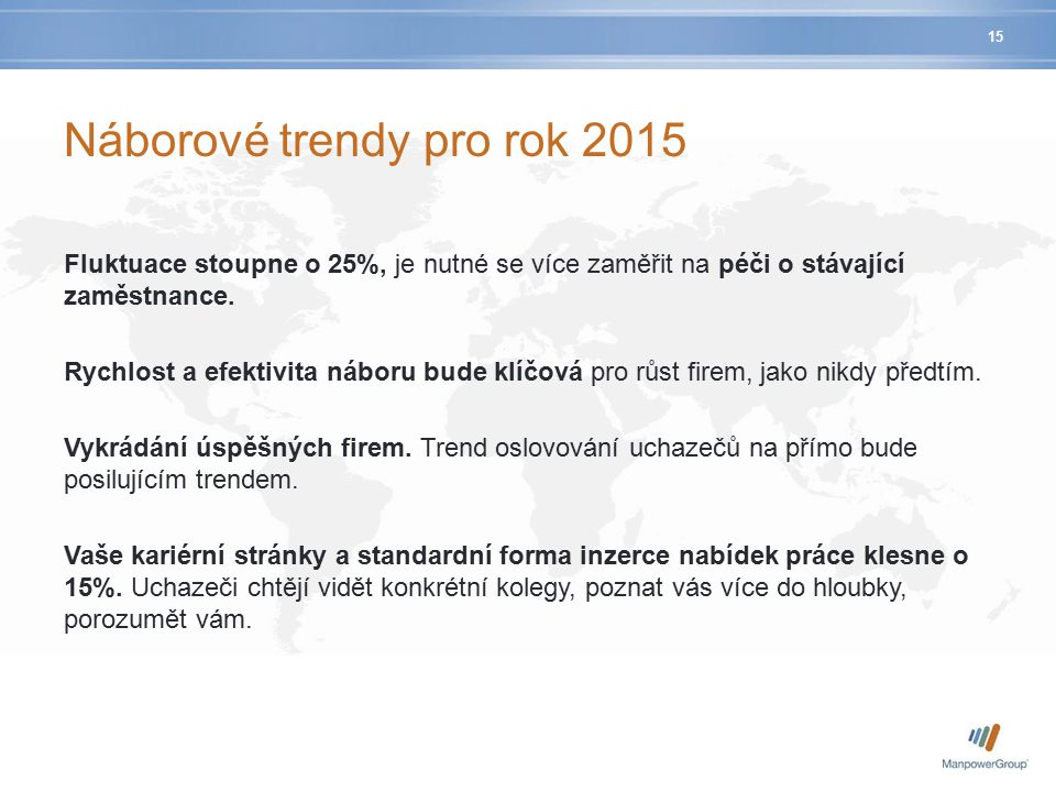 Náborové trendy pro rok 2015