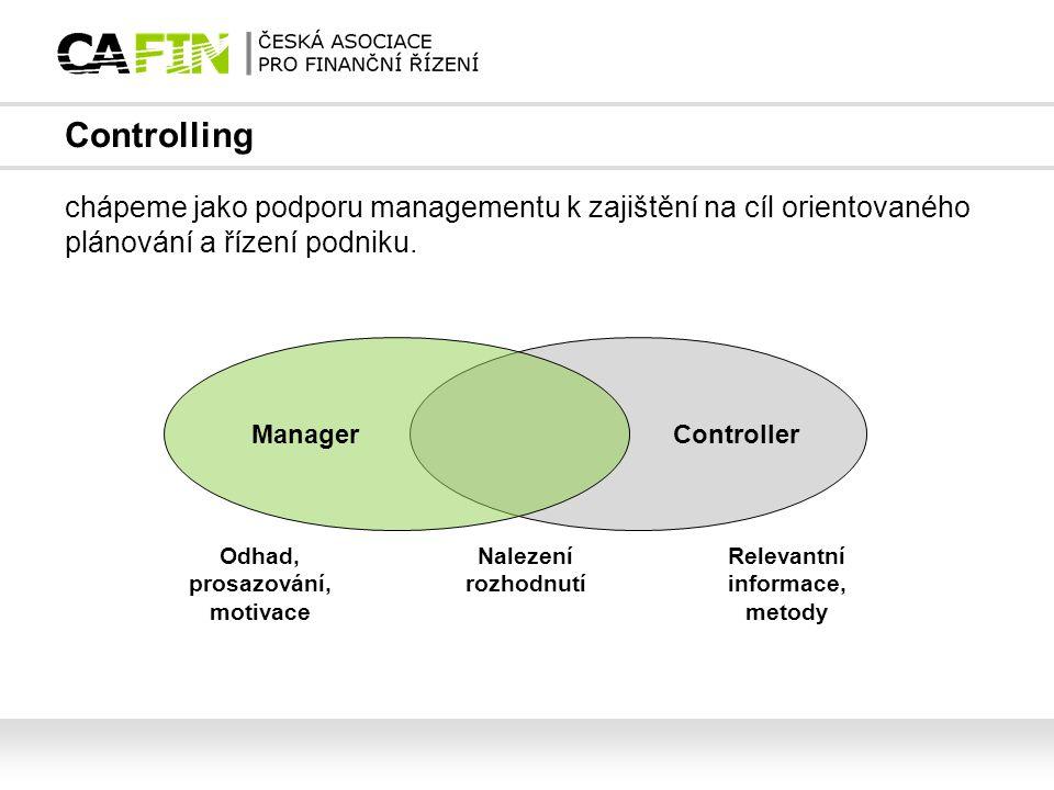 Controlling chápeme jako podporu managementu k zajištění na cíl orientovaného plánování a řízení podniku.