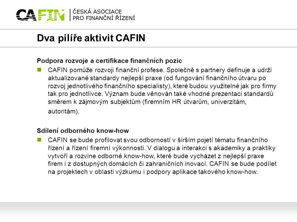 Dva pilíře aktivit CAFIN
