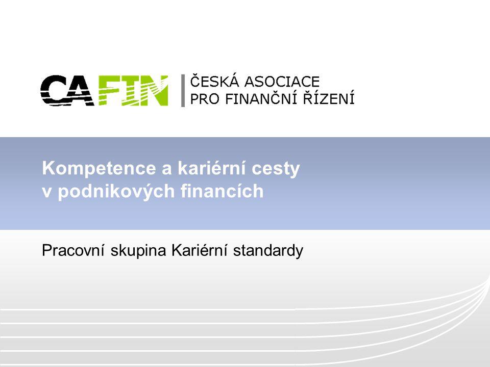Kompetence a kariérní cesty v podnikových financích