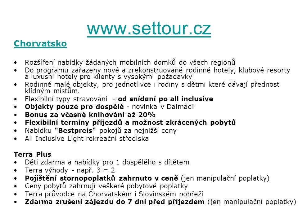 www.settour.cz Chorvatsko
