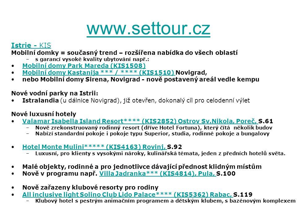 www.settour.cz Istrie - KIS