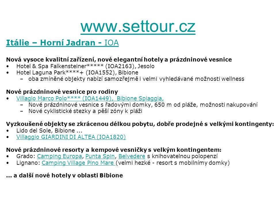 www.settour.cz Itálie – Horní Jadran - IOA