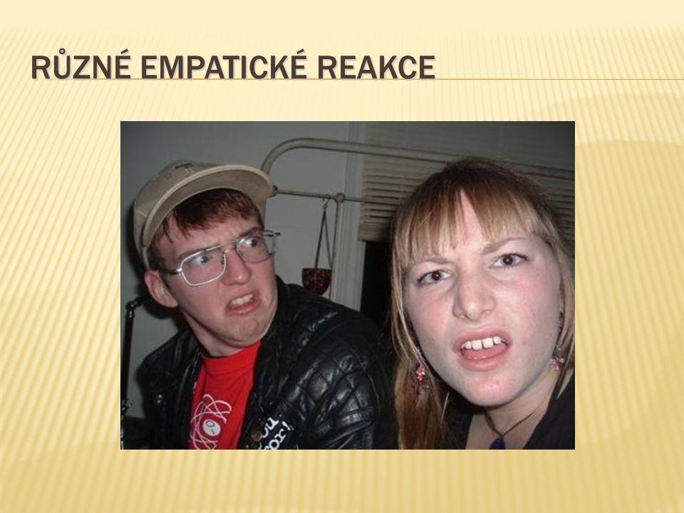 Různé empatické reakce