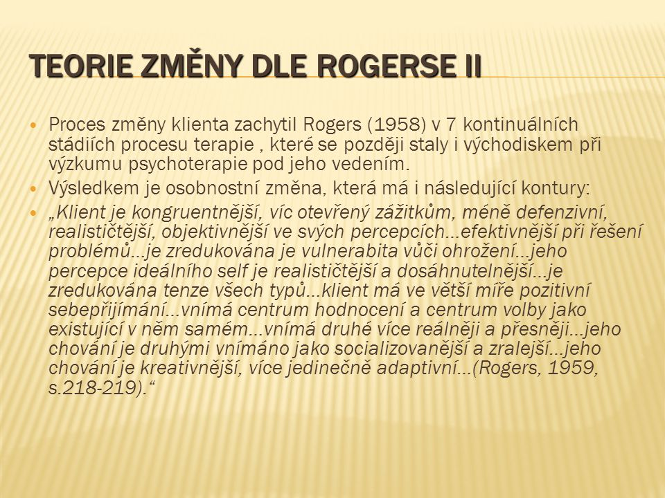 Teorie změny dle Rogerse II