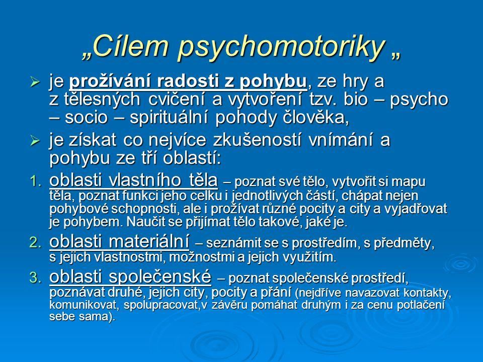 """""""Cílem psychomotoriky """""""