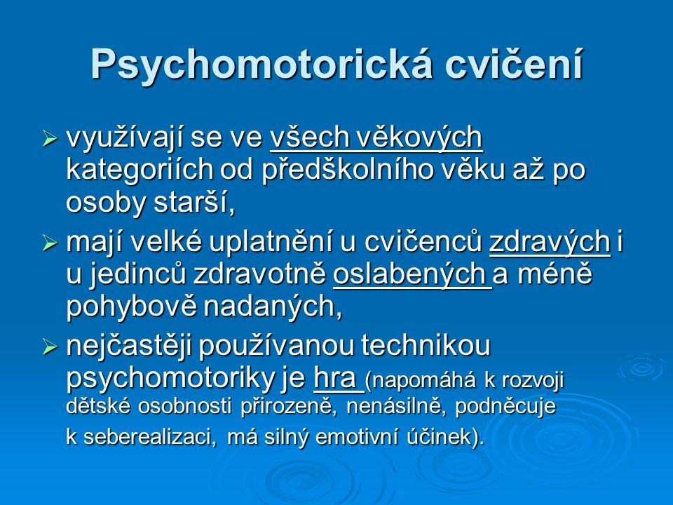 Psychomotorická cvičení