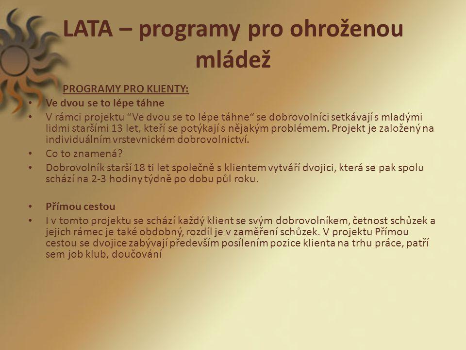 LATA – programy pro ohroženou mládež