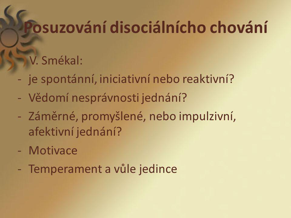 Posuzování disociálnícho chování