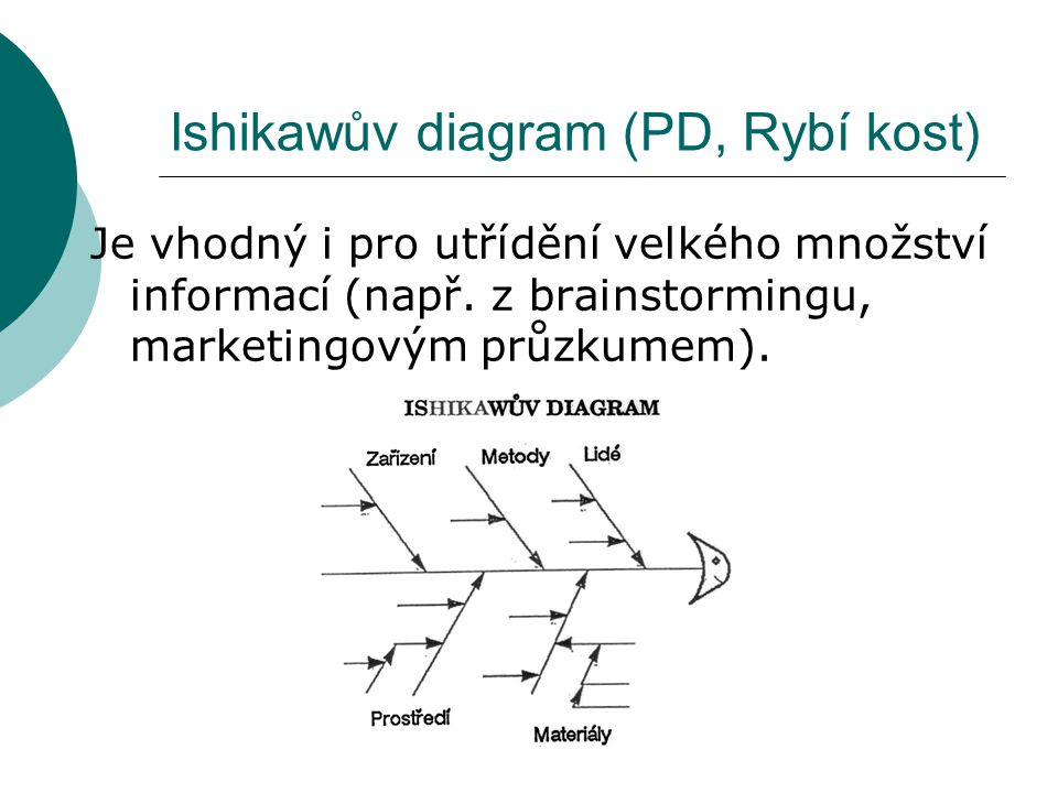 Ishikawův diagram (PD, Rybí kost)