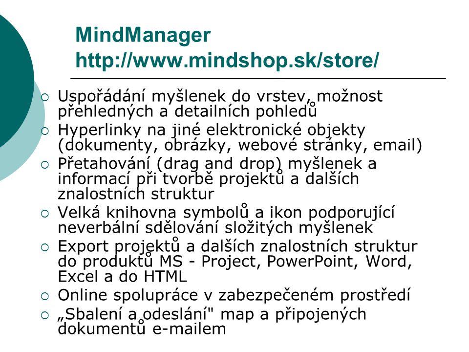 MindManager http://www.mindshop.sk/store/